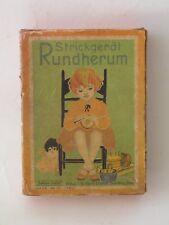 Alte leere Schachtel für Strickgerät Rundherum