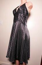 A.P.N.Y. Pin Stripe Dress, Polyester Size 12 Regular