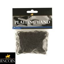 LINCOLN PLAITING BANDS – BLACK – Horse/Pony, Mane/Tail, Showing – FREE P&P