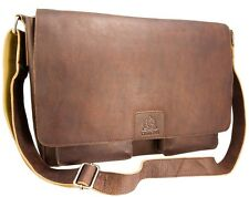 Toucan Genuine Leather Brown Large Messenger Bag Brand New With Tags 9186