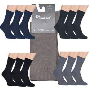 100% Cotton  Men's Socks 3 Pairs. Size UK 6 - 12 Made in EU