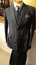 "Vintage Pinstripe C.1940's (Chester) BARRIE  of london W1 Chest 40"" 3 Piece."
