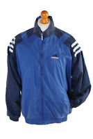 Vintage Adidas Long Sleeve Tracksuit Top White 3 Stripe Outdoor XL Blue - SW1934