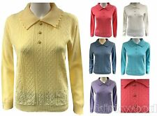 Collared Unbranded Regular Jumpers & Cardigans for Women