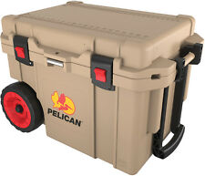 Pelican 45 Quart QT Progear Wheeled Elite Cooler ATV UTV Desert Tan