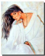 Native American Indian Maiden Vintage Women Wall Decor Art Print Poster (16x20)