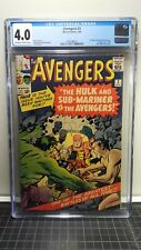 Avengers 3 CGC 4.0 OWW 1st Hulk & Sub-Mariner team-up.