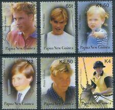 Papua Neuguinea - 21. Geburtstag Prinz William Satz postfrisch 2003 Mi. 989-994