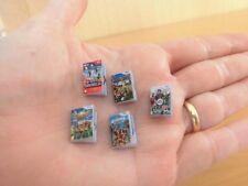 Juegos miniatura consola.Serie III: Mario Bros, Mario Party 8, Fifa 13,Inazuma