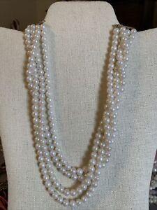 """Vintage Faux Pearl necklace 20"""""""