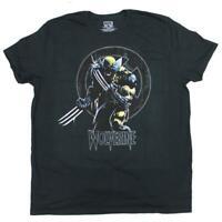 Mens Black Wolverine X-Men Shadow Tee T Shirt