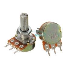 5PCS B5K 5K Ohm Knurled Shaft Linear Rotary Taper Potentiometer