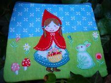 Little Red Riding Hood Cartera Monedero Bordado Flores conejo chicas Pájaro