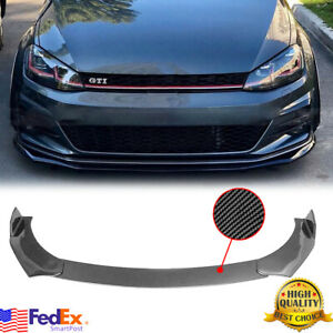 Carbon Fiber Look Front Bumper Lip For Volkswagen Golf MK7 MK7.5 MK6 GTI GTD R