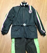 ~Vintage~ARCTIC CAT~WEAR~2-Pc~SNOW~Mobile~SUIT~Jacket~Coat~Pants~BIB~Large~Tall