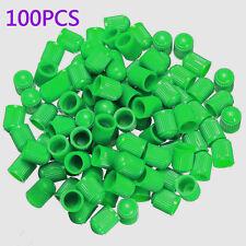 100pcs Hot Universal Car Auto Wheel Tire Green valve Stem dust caps ABS plastic