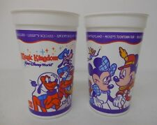 2 Disney World Plastic Drink Cups COCA-COLA MAGIC KINGDOM Chip Dale Pluto Goofy+