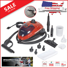 Car Steam Cleaner Machine 11 Accessories Detailing Cleaning Portable Compact New