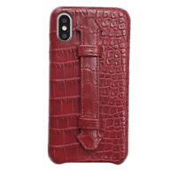 Crocodile Cover for iPhone Xs Max X 8 7 6 PU Leather Wristband Stand Holder Case