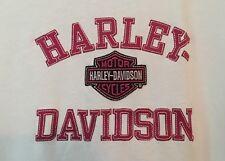 Pat Rogers HARLEY DAVIDSON, Concord, NC Ladies White With Dark Pink Logo Size M