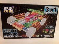 Brik Zone-3 In 1-Light FX RunnersTraxter Car-Vehicle Race Car-(54pcs)!!!READ!!