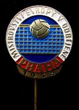 1958  European Volleyball Championship in Prague Vintage Sport  Pin Badge