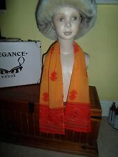 1 NEW Colourful Mixed Fibre Pretty Ladies Scarf Orange+Red Gift Idea #82