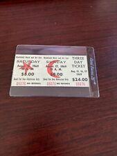 Woodstock Partial 3 Day Ticket