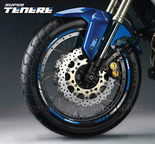 XT1200Z motorcycle wheel decal rim stickers stripes for Yamaha Super Tenere blue
