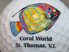 (1) ST THOMAS VIRGIN ISLANDS LOGO GOLF BALL CORAL WORLD