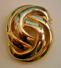 Celtic knot brooch scarf clip D165*) A lovely vintage gold tone
