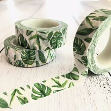 Botanical Leaf Washi Tape, Cards Planner, Wrapping, Scrapbooking 1.5cm x 10m