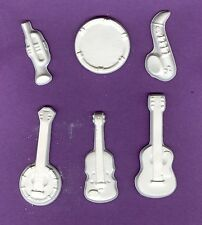 Music instrument plaster of Paris painting project. Set of 12!