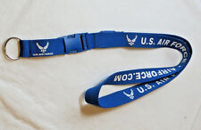 U.S. Air Force Ariforce.com blue Neck Lanyard Detachable End w/keyring Military