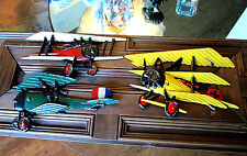 Vintage Homco Cast Metal Airplanes Set of 3 1975 Wall Hangings Aviation Planes