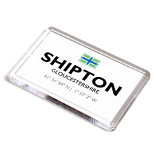 FRIDGE MAGNET - Shipton, Gloucestershire - Lat/Long SP0318