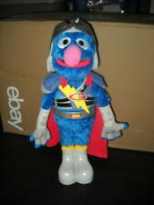 "15"" SUPER GROVER FLYING, TALKING TOY~SESAME STREET~BIRDS CHIRP, HORNS BLOW, 2011"