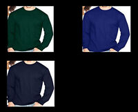 -*Hanes 100% Cotton Long Sleeve Beefy-T Tee Shirts many colors & sizes! NEW!