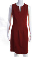 Piazza Sempione Womens Sleeveless V-Neck Sheath Dress Red Size EUR 40