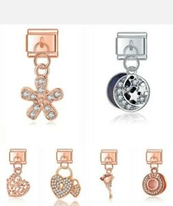 ASSORTED DESIGNER  Italian Charms that fit 9mm Nomination +gift pouch-NC170
