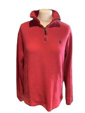 Ralph Lauren Raspberry High Neck Sweater Top Size S Mens