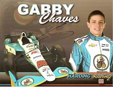 2017 GABBY CHAVES signed INDIANAPOLIS 500 HERO PHOTO CARD INDY CAR HARDING RACE