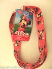Disney Minnie Mouse Bow-tique Lanyard/Landyard ID Holder Keychain-New with Tags!