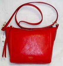 FOSSIL Sydney Crossbody Real RED Leather Handbag Bag Purse ZB5484622