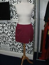 Genuine Vintage 80s Hot Pink pencil Mini skirt Size 12 Warehouse with Spandex