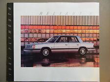 1987 Plymouth Reliant K Sales Brochure- VGC!
