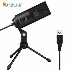 fifine Metal USB Condenser Recording Microphone for Windows Cardioid Laptop