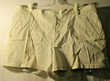 Old Navy Size 18 Light Beige Striped All Cotton Shorts
