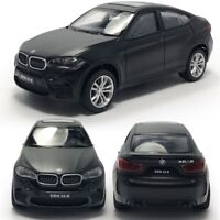 1:43 Scale BMW X6 M Model Car Diecast Toy Vehicle Gift Pull Back Kids Black