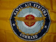 US Naval Air Systems CMD Command Flag Size 6 Stitched 2 Sided New System